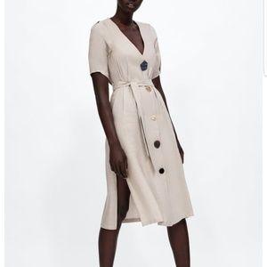 NWT Zara Button Dress